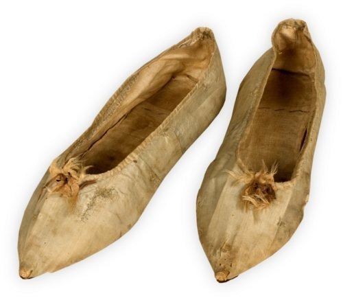 Slippers worn to a ball for Marquis de Lafayette