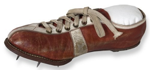 Wes Santee's Olympic track shoe