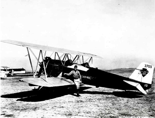 Photograph of the Stearman C-3B.