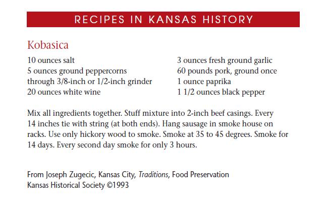 Recipe - Kobasica