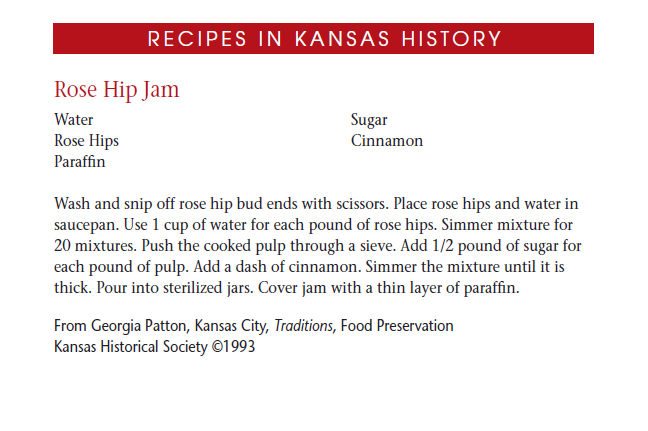 Recipe - Rose HIp Jam