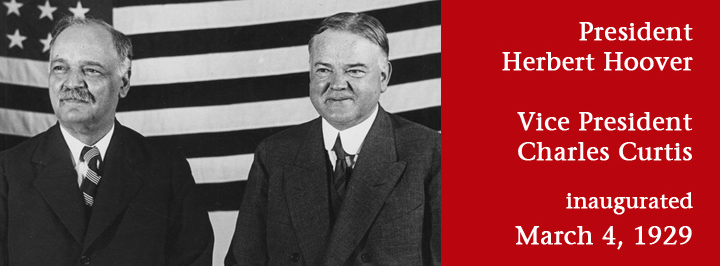 Charles Curtis of Kansas was inaugurated U.S. vice president on March 4, 1929