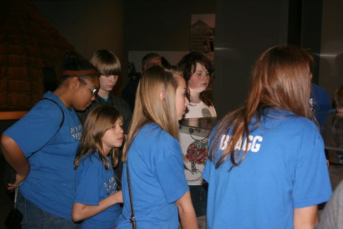 7th graders at the museum