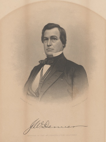 Photo of James W. Denver, around 1857