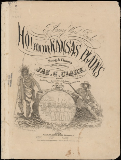 "Image of and link to sheet music ""Ho! for the Kansas Plains,"" a song about making Kansas a free state"