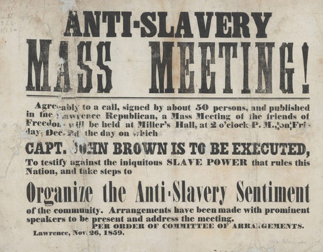 Image of an advertisement of an anti-slavery meeting