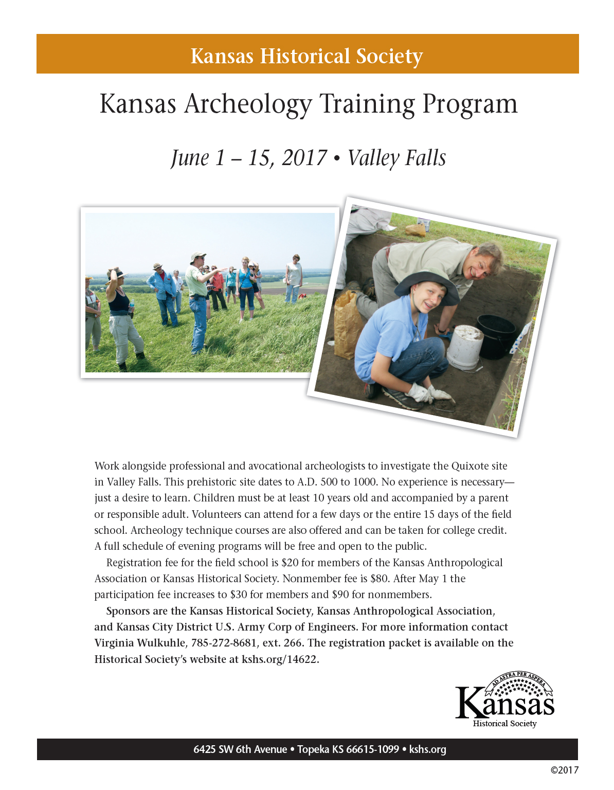 2017 Kansas Archeology Training Program