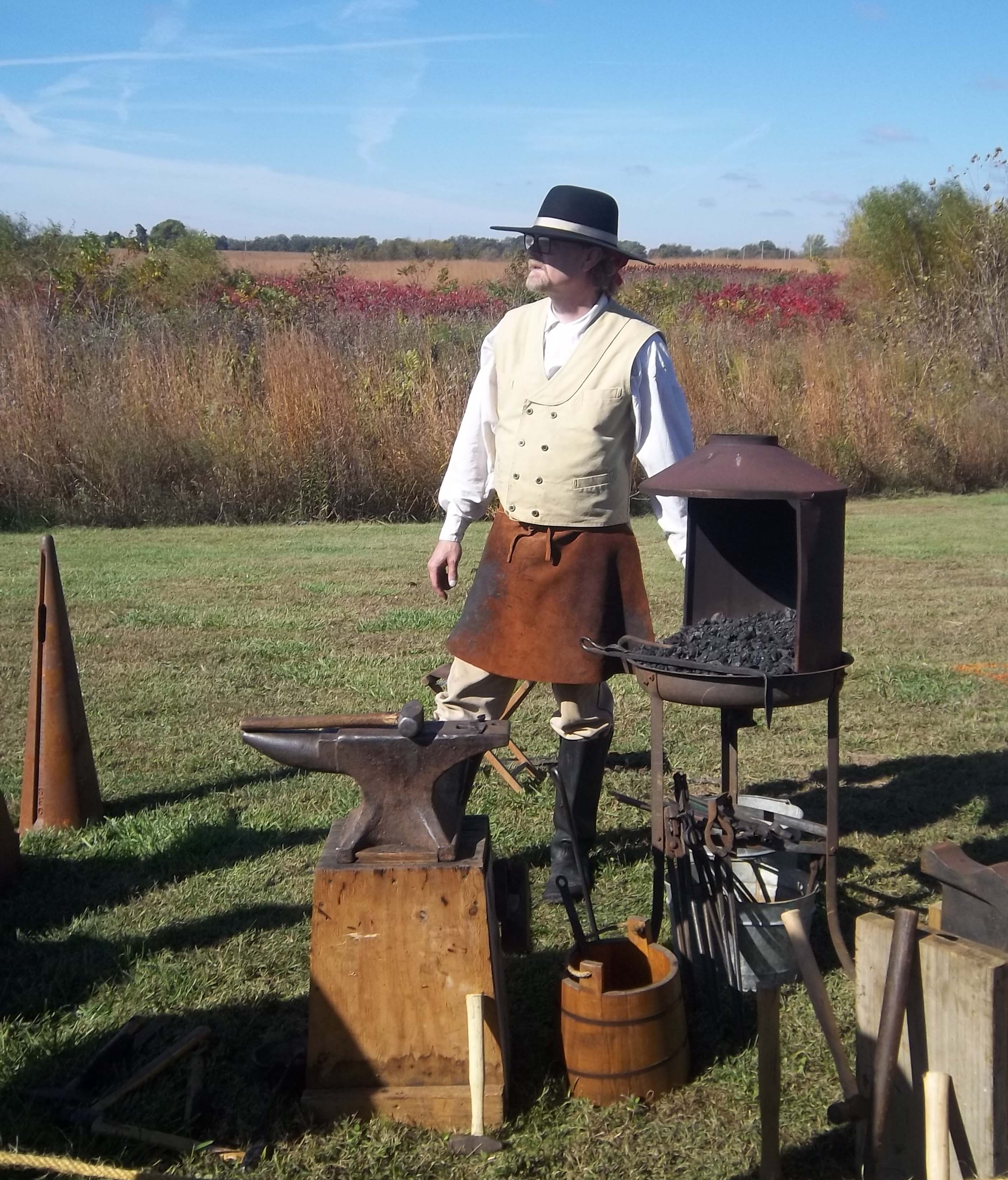 Mine Creek pioneer skills demonstration.