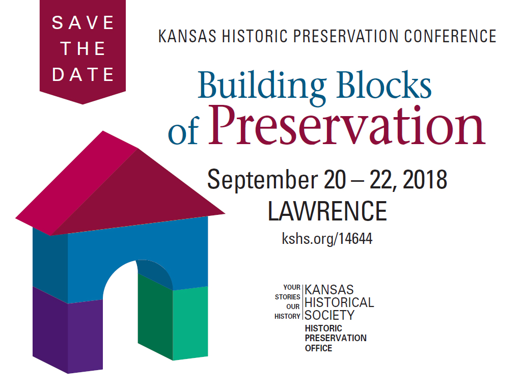 Kansas Historic Preservation Conference Save the Date