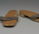 Asian clogs with wooden soles, 1941-1945