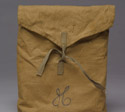 Cotton gear bag with hand lettered H for Hughes, 1942-1945