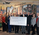 $1 million check presentation from Dane G. Hansen Foundation