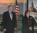 Paul Stuewe, president, Kansas Historical Foundation, Vicky Henley, executive director/CEO, Kansas Historical Foundation
