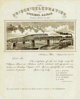 Atchison Bridge Dedication, 1875