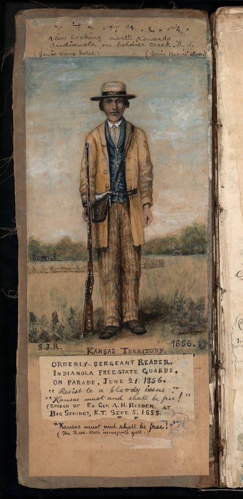 Samuel Reader of Indianola, member of the Kansas Militia from 1856 through the end of the Civil War.