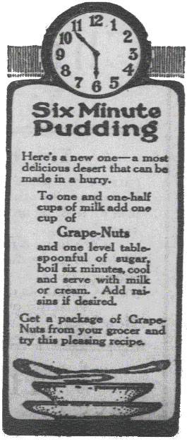 Six Minute Pudding from Hays Free Press