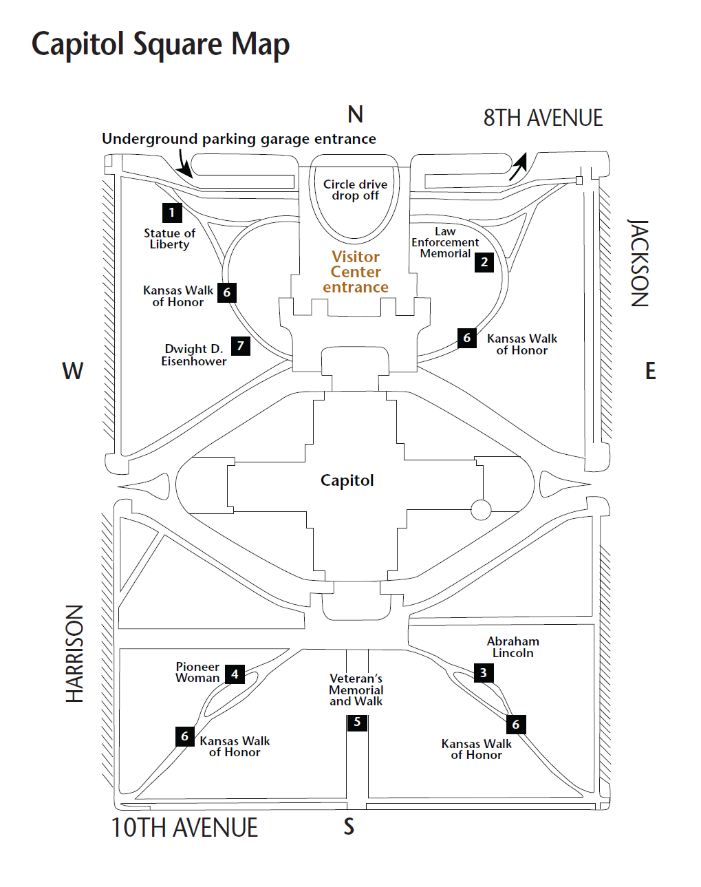 Kansas State Capitol Plan Your Visit Kansas Historical Society - Map of us capitol grounds