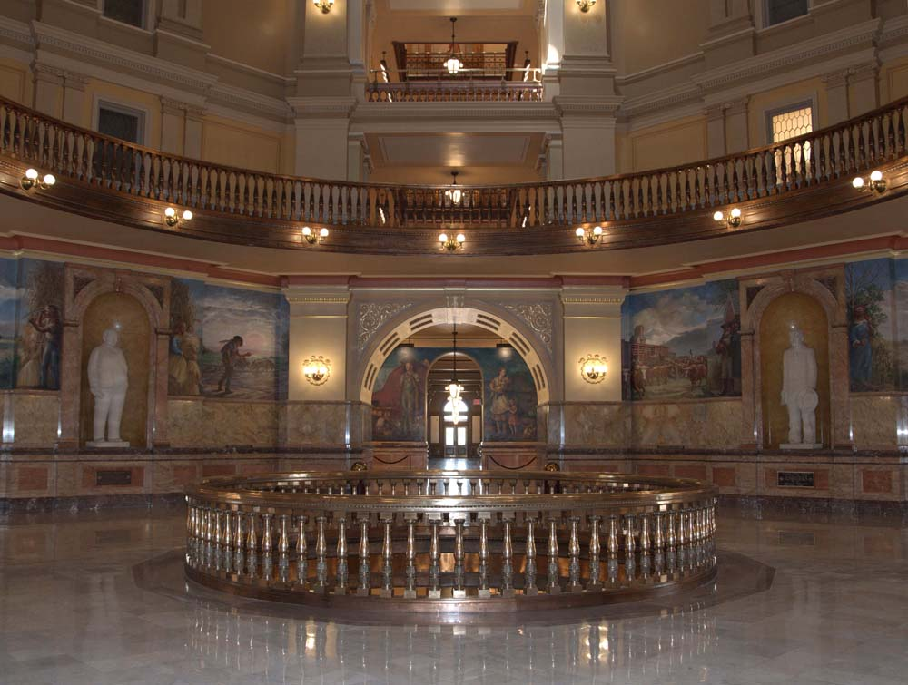 Second floor rotunda, Kansas State Capitol, Topeka