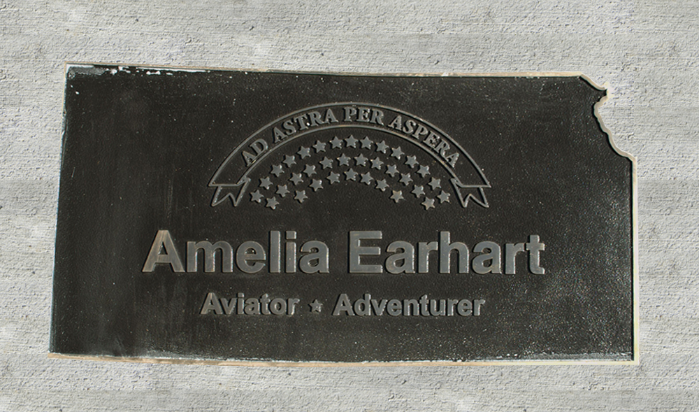 Kansas Walk of Honor - Amelia Earhart