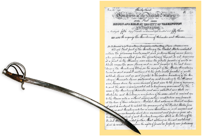 Kansas-Nebraska Act, John Brown's sword
