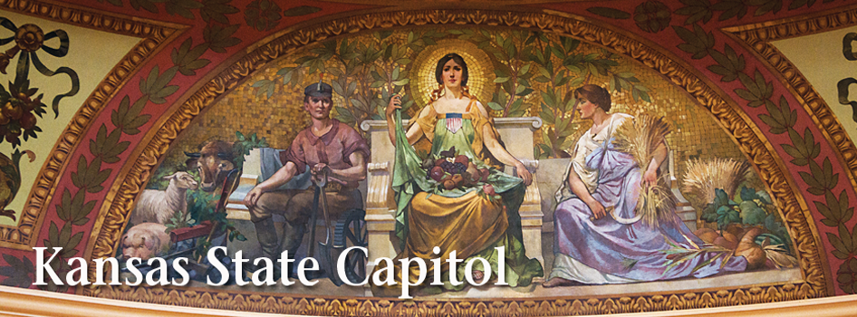 Kansas State Capitol dome mural