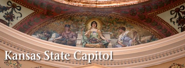 Kansas State Capitol Crossman dome mural