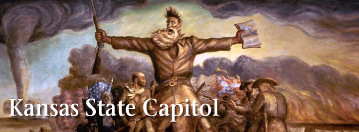 Kansas State Capitol Curry mural