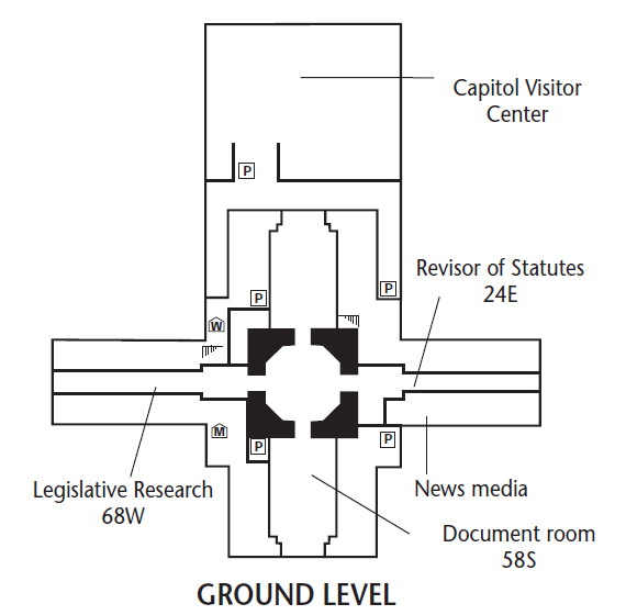 Ground floor map, Kansas State Capitol