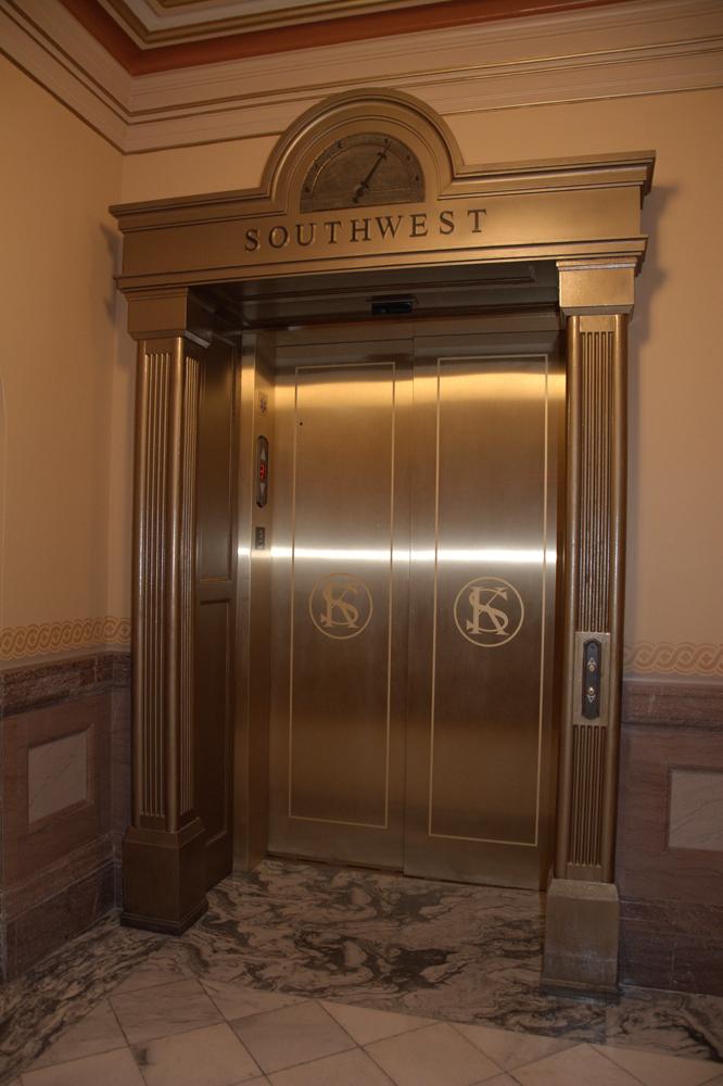 Building Elevator Lifts : Kansas state capitol online tour public elevators