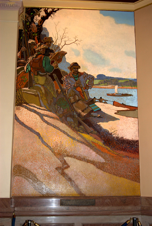 Lewis and Clark in Kansas by David Overmyer