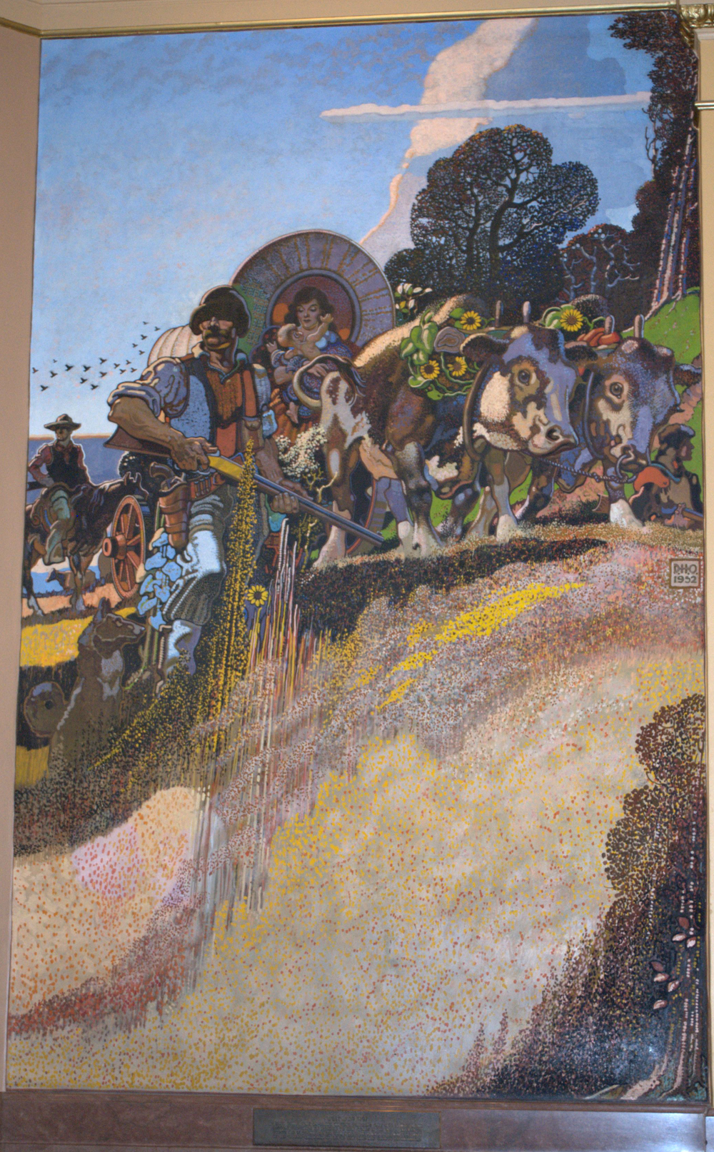 Kansas state capitol online tour overmyer murals for Flooring topeka