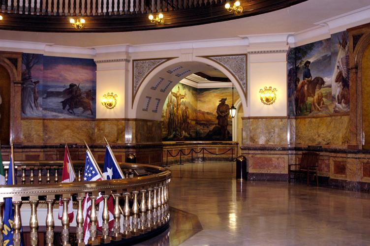Kansas State Capitol Online Tour Winter Murals