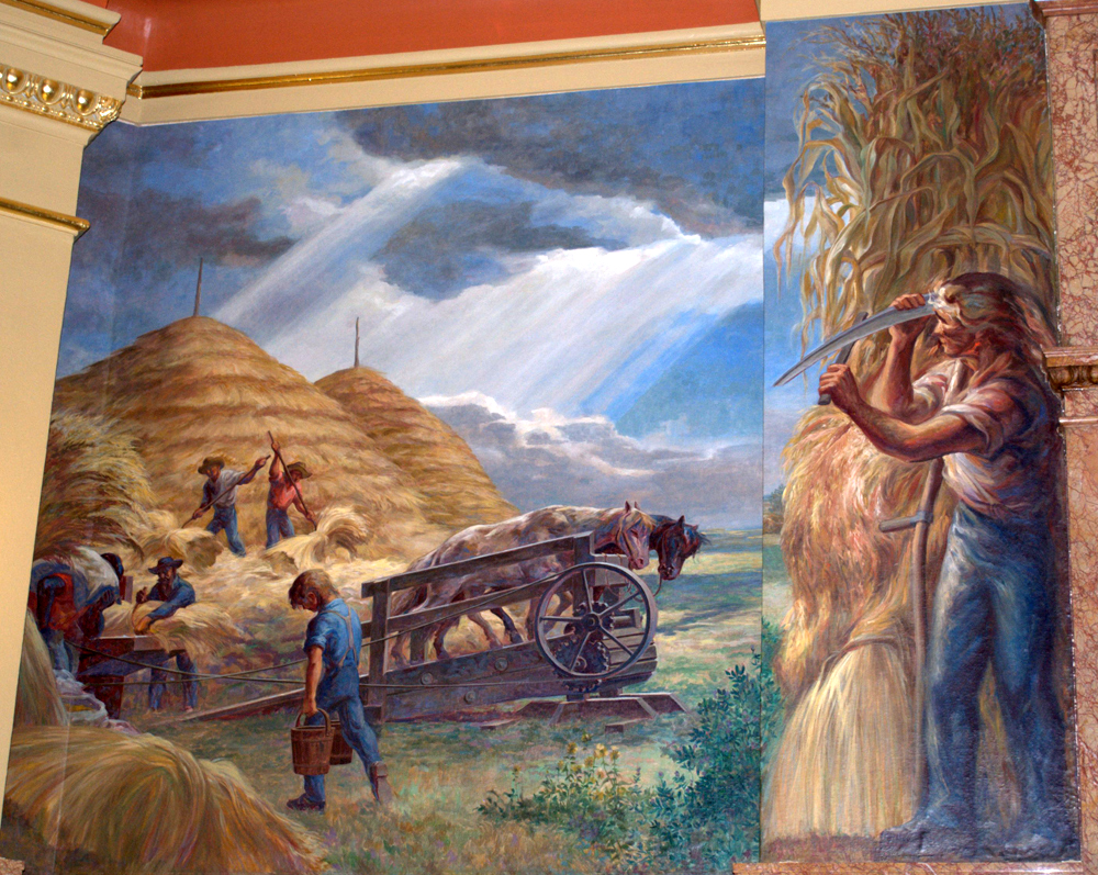 Threshing by Lumen Martin Winter