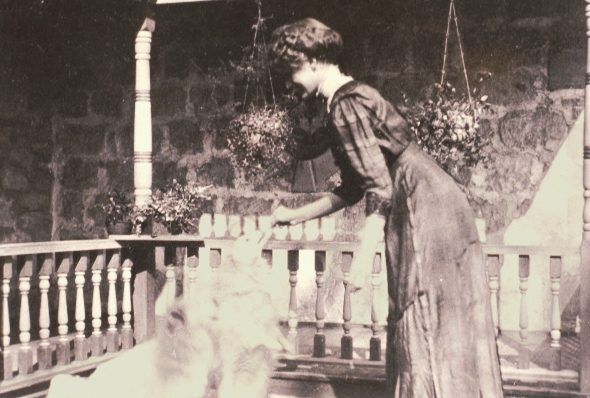 Hilda Pratt and her dog.