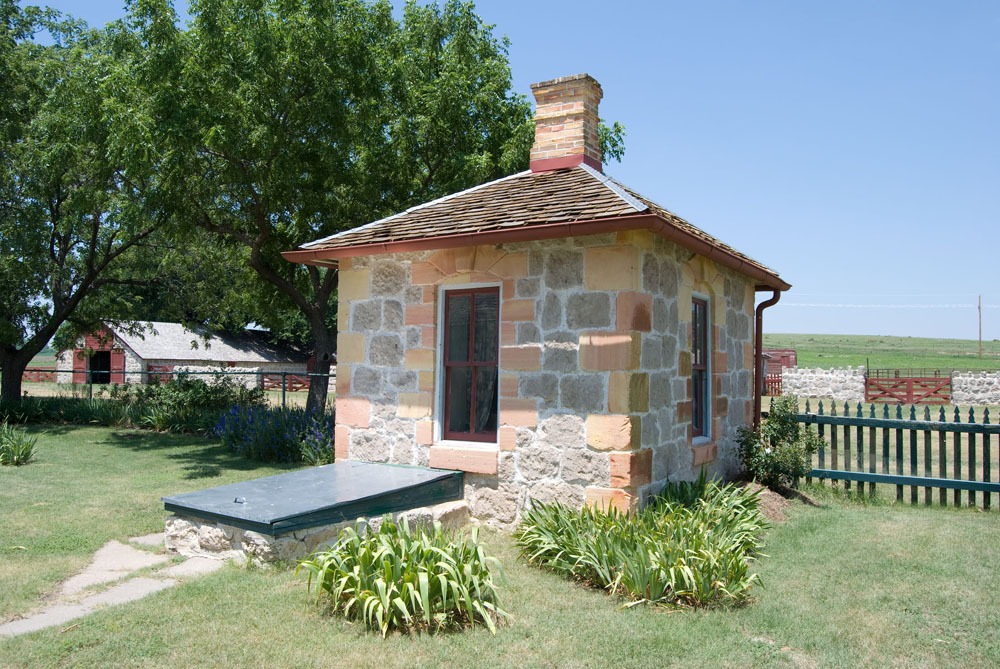 Wash house at Cottonwood Ranch State Historic Site, Studley