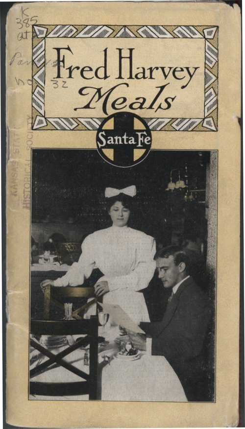 Fred Harvey Meals 1909 pamphlet. CLICK TO READ