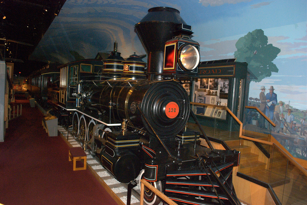 1880s steam locomotive, Kansas Museum of History, Topeka
