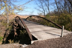 Wea Creek bridge at western trailhead