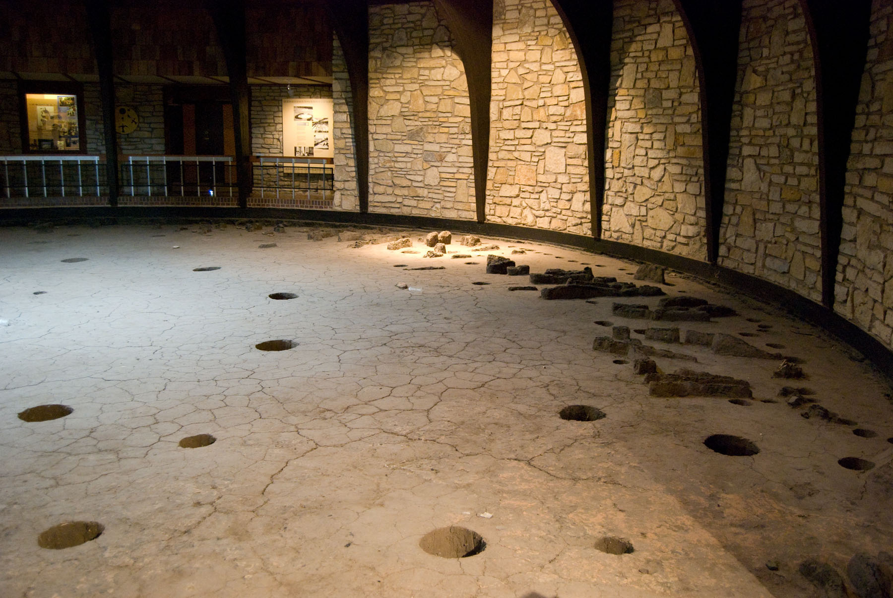 excavated floor of museum