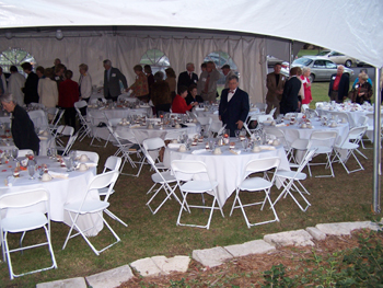 Red Rocks State Historic Site, Emporia, set for lawn reception