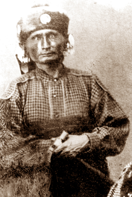 Allegawaho, Kaw chief, 1867