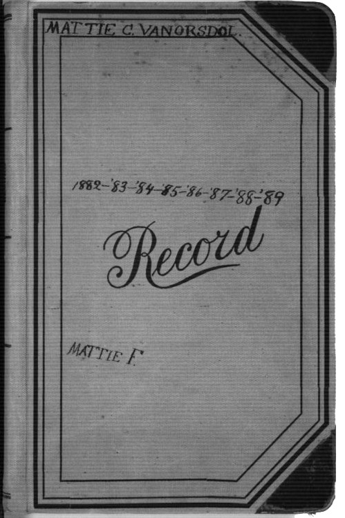 Image of cover of Martha Farnsworth's diary, 1882-1889 CLICK TO READ