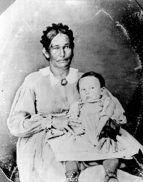 Annie Grinter and baby, Cunningham