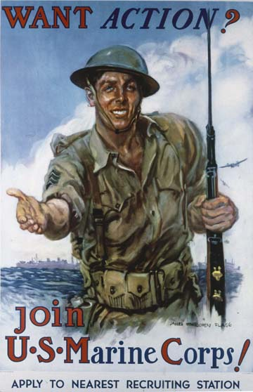 World War II poster: Join the U.S. Marine Corps