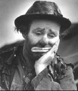 "Emmett Kelly as ""Weary Willie"""