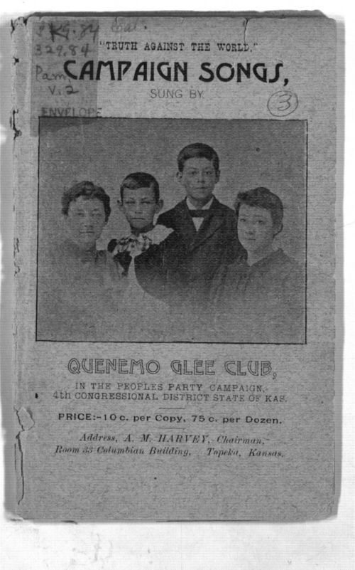 Quenemo Glee Club pamphlet in Kansas Memory
