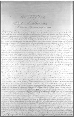 Image of Wyandotte Constitution, page 1
