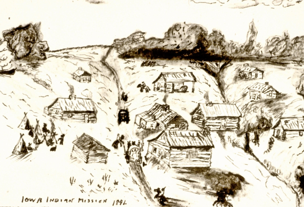 Sketch of Iowa Sac and Fox Mission