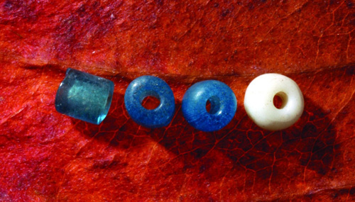 Glass beads from Republic county