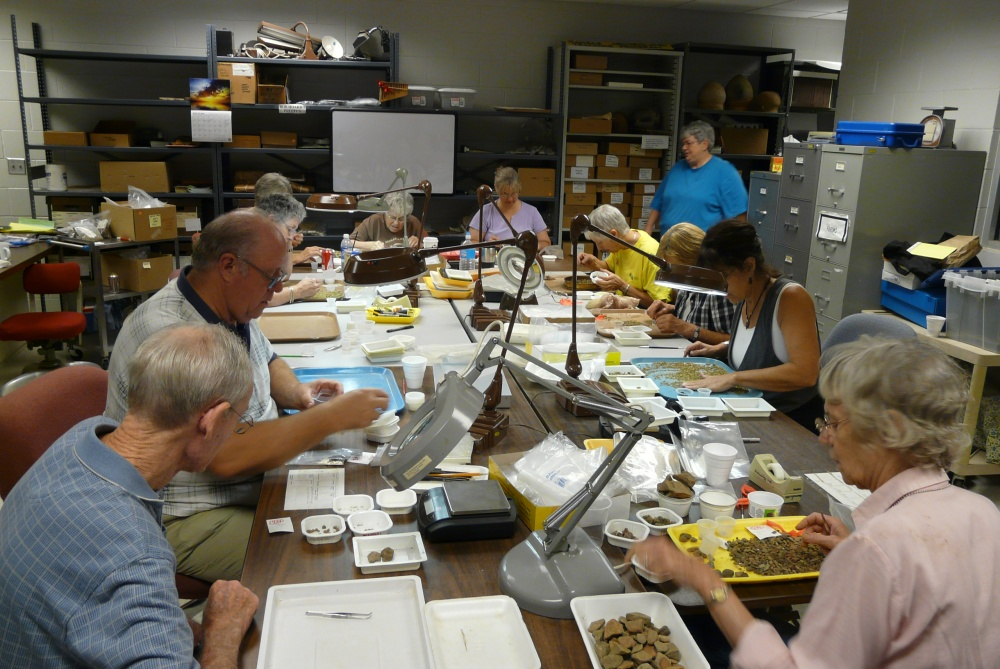 Volunteers in Archeology Lab